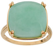 Jade Bold Cushion Cut Ring 14K Gold - J350670