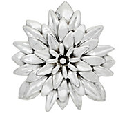 Or Paz Sterling Polished Dahlia Pin / Pendant - J351570