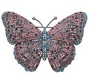 Joan Rivers Midnight Crystal Butterfly Pin - J352470