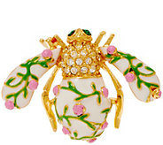 Joan Rivers Pink Roses Bee Pin - J352870