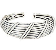 Peter Thomas Roth Sterling Silver Ribbon & Reed Tapered Cuff, 33.4g - J353270