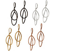 Joan Rivers Set of 4 Double Teardrop Hoop Earrings - J353770