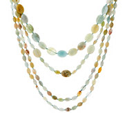 Set of 3 Multi Color Beryl Bead Layering Necklaces - J354170