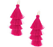 Lisbon Tiered Fringe Tassel Earrings - J354870