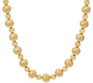 Oro Nuovo 18 Satin & Polished Bead Necklace, 14K - J357270