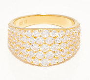 Diamonique Graduated Pave Band Ring, Sterling or 14K Clad - J361270