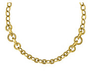 Italian Gold Round & Oval Link Status Necklace14K Gold, 19.0g - J379070