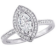 Affinity 14K Gold 3/4 cttw Marquise-Cut DiamondHalo Ring - J381370