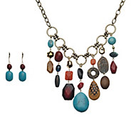 Linea by Louis DellOlio Voodoo Bead Necklace Set - J391570