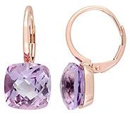14K Gold 9.80 cttw Rose de France Lever Back Earrings - J392270