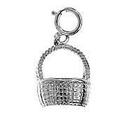 14K White Gold Nantucket Basket Charm - J105771