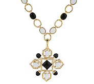 Luxe Rachel Zoe Cabochon Link Necklace with Pin/Enhancer - J154771