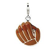 Amore La Vita Sterling Dimensional BaseballMittCharm - J299871