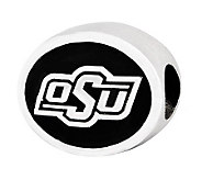 Sterling Silver Oklahoma State University Bead - J300771