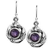 Hagit Gorali 1.70 ct tw Amethyst Round Earrings, Sterling - J305471