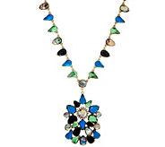 LOGO Links by Lori Goldstein Teardrop Cluster Necklace - J329471