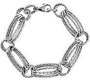 Fancy Link 7-1/4 Bracelet, 14K White Gold - J340371