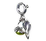Hagit Sterling Heart and Cultured Pearl F lowerCharm - J341771