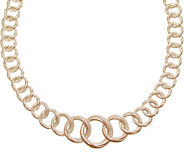 Judith Ripka 14K Rose Gold Clad Textured 20 Necklace - J345771