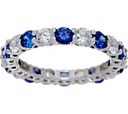 Diamonique & Simulated Gemstone Band Ring, Sterling - J350671