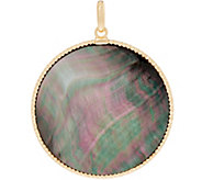 Italian Gold Round Mother-of-Pearl Pendant 14K Yellow Gold - J353671