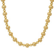 Oro Nuovo 20 Satin & Polished Bead Necklace, 14K - J357271