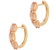 Imperial Topaz Huggie Hoop Earrings, 2.80 cttw, 14K Gold - J357471