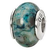 Prerogatives Sterling Blue Lace Agate GemstoneBead - J298172