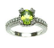 Judith Ripka Sterling Gemstone & Diamonique Ring - J308772