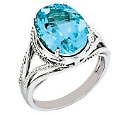 Sterling Oval Faceted Gemstone Ring - J310972