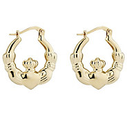 Solvar Claddagh Earrings, 14K Gold - J314472