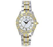 Bulova Ladies Two-Tone Crystal Accented Bracelet Watch - J316372