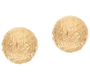 EternaGold 8.0mm Chevron Pattern Ball Stud Earrings 14K Gold - J323572