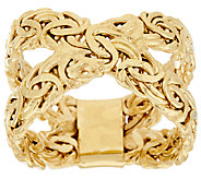 As Is 14K Gold Byzantine X-Design Ring - J326272