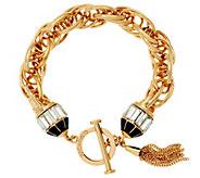 C. Wonder Triple Rolo Link Bracelet with Crystal Toggle Station - J328872