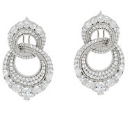Judith Ripka Sterling_10.30 cttw Diamonique Double Hoop Earrings - J333572