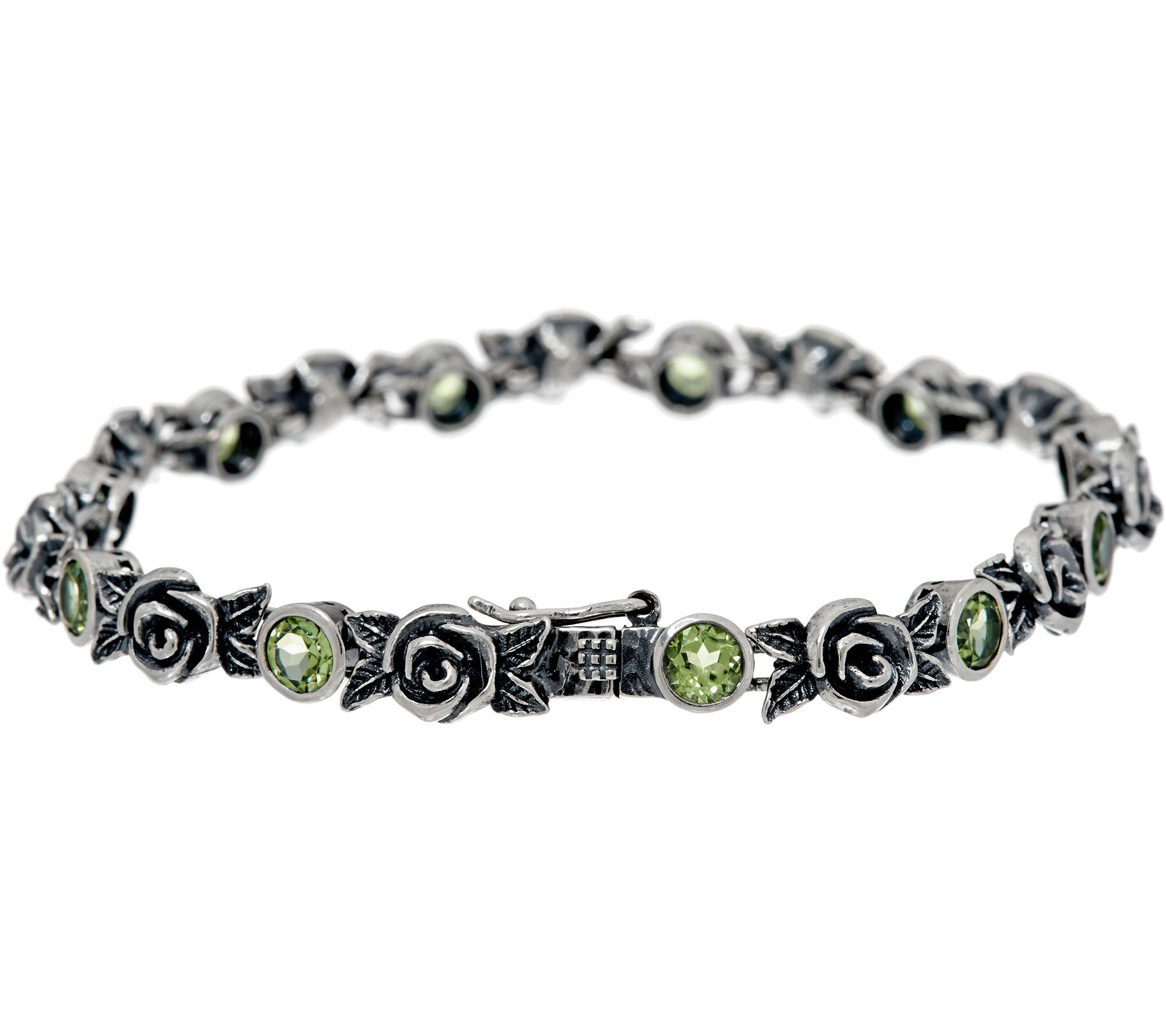 Or Paz Sterling Silver 2 40 Cttw Gemstone Rose Tennis Bracelet Page 1 Qvc
