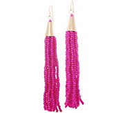 The Reese - Beaded Multi Strand Tassel Earrings - J354872