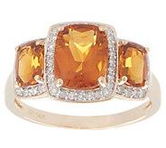 Serra Citrine 3-Stone Ring, 2.50 cttw, 14K Gold - J355572