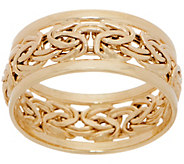 14K Gold Byzantine Band Ring - J357172