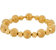Oro Nuovo Polished & Satin Finish Bead Bracelet, 14K - J357272