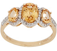 Imperial Topaz Three Stone Ring, 2.00 cttw, 14K Gold - J357472