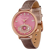 Judith Ripka Stainless Steel Rosetone Evil Eye Watch - J358472