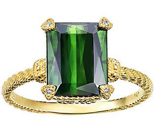 Judith Ripka 14K Gold 2.80 cttw Green