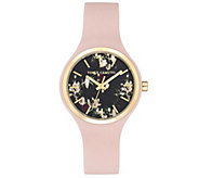 Vince Camuto Womens Floral Light Pink SiliconeStrap Watch - J383472
