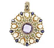 Arte d Oro 28.00 cttw Multi-Gemstone Pendant,18K - J392572