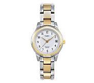Timex Womens Classic Dress Watch with Two-toneBracelet - J101973
