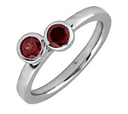 Simply Stacks Sterling & Garnet Double Circle Ring - J299373
