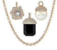 As Is Isaac Mizrahi Live! Long Charm Necklace - J327873
