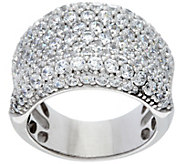 Diamonique Bold Concave Band Ring, Sterling or 14K Clad - J331373